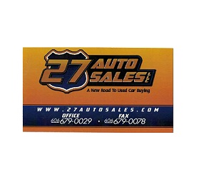 27 Auto Sales LLC