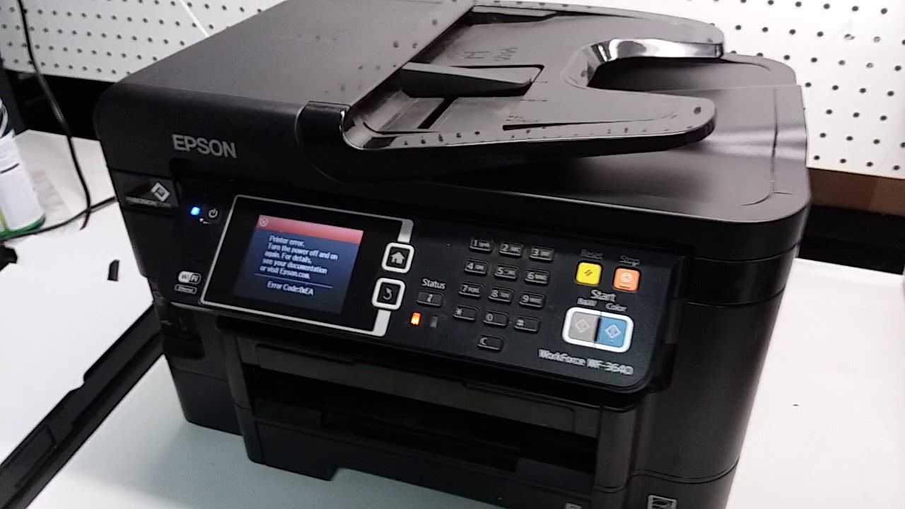 Epson Printer Error Code 0xFA