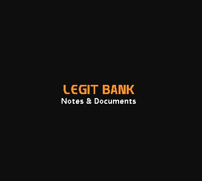 Legit Bank Notes & Documents
