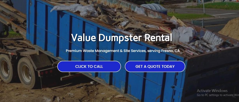 Value Dumpster Rental Fresno