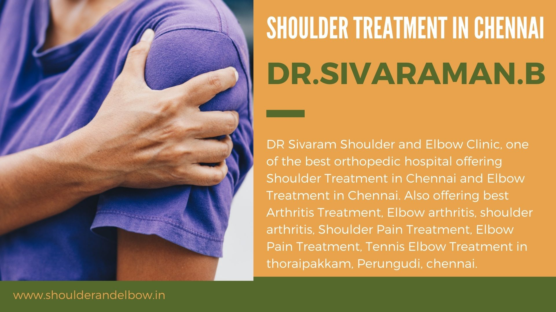 Shoulder and Elbow Treatment in chennai