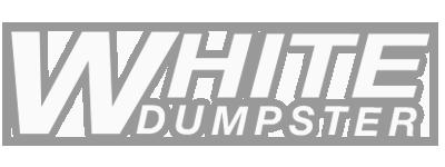 White Dumpster