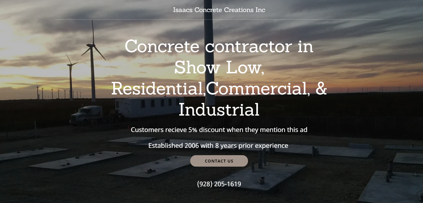 Isaacs Concrete Creations Inc