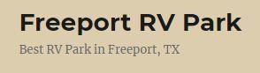 Freeport RV Park