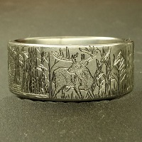 Duck Band Wedding Ring
