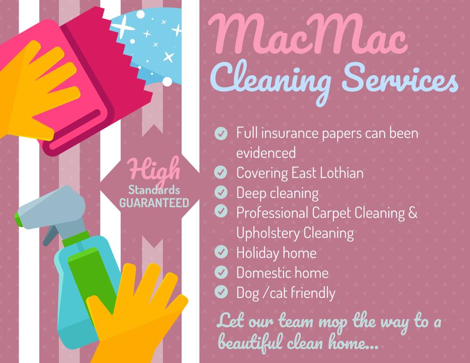 Macmac cleaning services East Lothian Ltd
