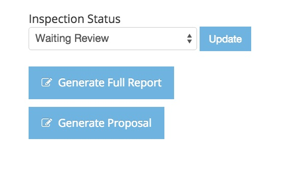 Generate inspection reports.